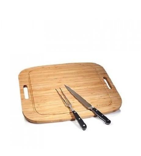 Wolfgang Puck Carving Set with Bamboo Carving Board