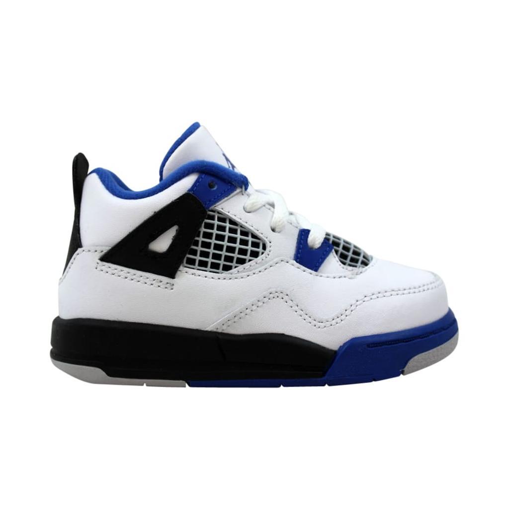 e60de0eb6fe135 Nike Nike Air Jordan IV 4 Retro BT White Game Royal-Black Motorsport ...