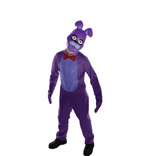 Bonnie Tween Five Nights At Freddy's Costume Jumpsuit Mitts and Mask FNAF Horror