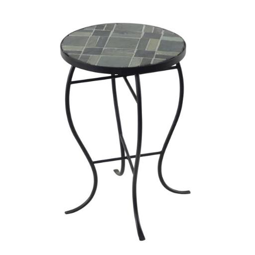 Design Mode 32-0406RT1 No. 1 Mosaic Tile Round Top Table with Metal Base