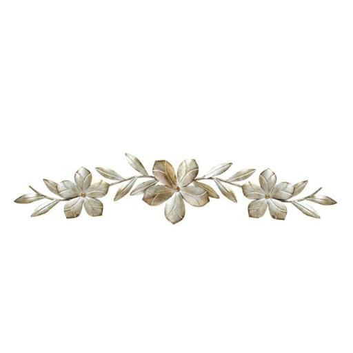 Stratton Home Decor S07705 Champagne Flower Over the Door Wall Decor, Champagne
