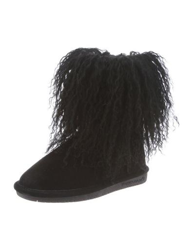 d04865c16d6 Bearpaw Boots Girls Boo Youth Curly Lamb Hair Sheepskin TPR Sole 1854Y