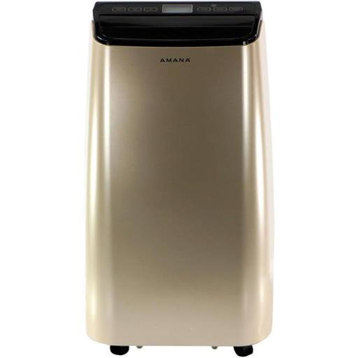 Amana AMAP121AD 12000 BTU Portable Air Conditioner with Remote Control, Gold & Black