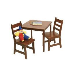 Lipper 514c child's table chair set cherry