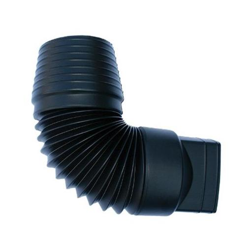 B & K 0474AA 4 in. Expandable Downspout Adapter Black