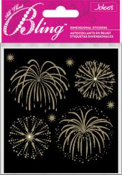 Jolee's Bling Stickers Fireworks Gold