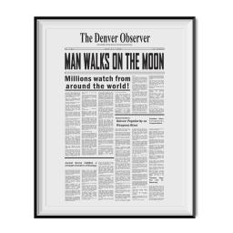 Man Walks On The Moon Article Poster We Landed On The Moon Dumb And Dumber Gift