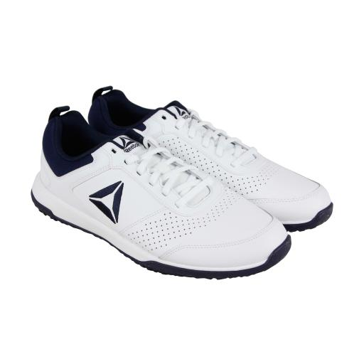 aac06cd478c7fc Reebok Reebok Cxt Tr Mens White Leather Athletic Lace Up Training ...