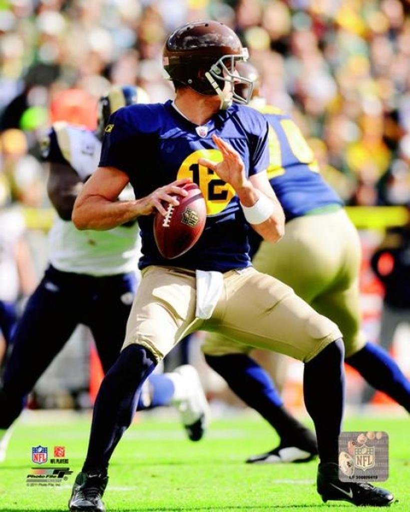 Aaron Rodgers 2011 Action Photo Print