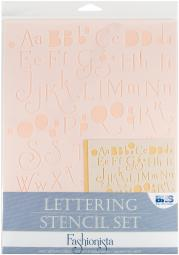 Lettering Stencil 4pc Sets-Fashionista