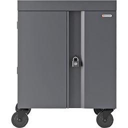 Bretford tvc32pac-ck charging cart ac for up to 32 devices w/back panel,1.4 inch w slots