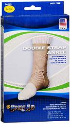 Sport Aid Double Strap Ankle Support LG - 1 ea., Pack of 3