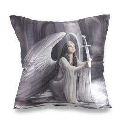 Anne Stokes The Blessing Gothic Angel Satin Decorative Throw Pillow 16in.