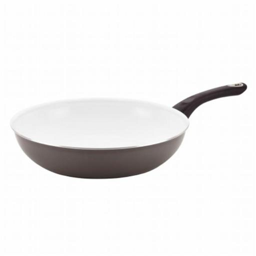 Farberware 17499 12.5 in. Nonstick Cookware Deep Skillet in Gray
