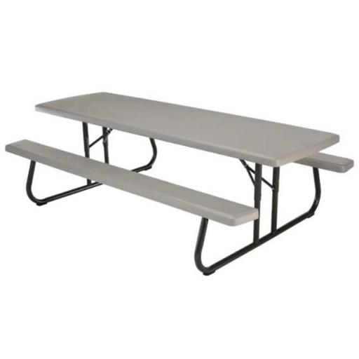 Lifetime 80123 8 ft Commercial Foldable Picnic Table - Putty