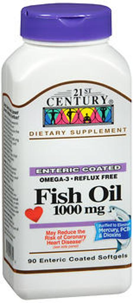 21st Century Omega-3 Fish Oil 1000mg - 90 Enteric Coated Softgels