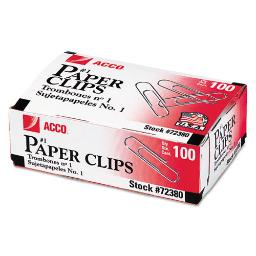 Paper Clips Medium (No. 1) Silver 1,000 Per Pack | 1 Pack of: 1000