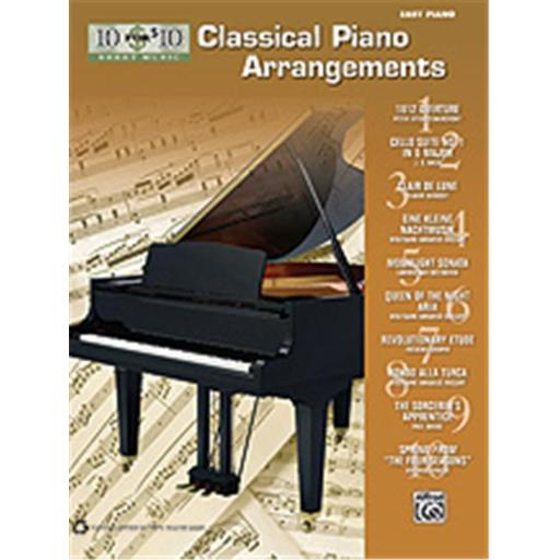 Alfred 00-36317 10 for 10 Sheet Music- Classical Piano Arrangements - Music Book