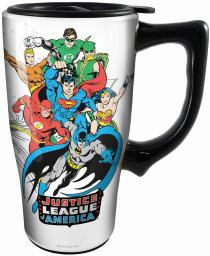 Spoontiques 12793 justice league travel mug