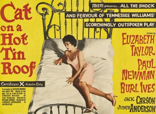 Cat On A Hot Tin Roof Elizabeth Taylor On Uk Poster Art 1958 Movie Poster Masterprint