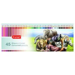 Royal talens north americ 5012m45 bruynzeel wild animals 45 coloured pencils