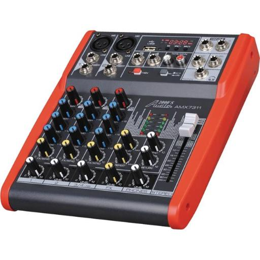 AUDIO2000S AMX7311 Professional Four-Channel Audio Mixer with USB and DSP Processor