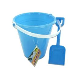 Solid colored beach pail with shovel - Case of 12