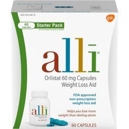 alli Orlistat 60 mg Capsules Weight Loss Aid Starter Pack 60ct