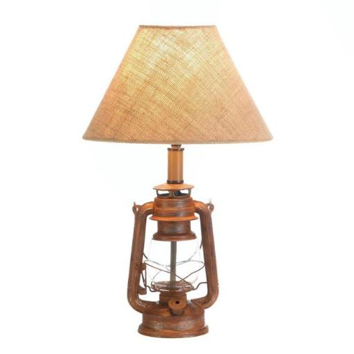 Accent Plus 10017904 6.5 x 4.75 x 19.2 in. Vintage Camping Lantern Table Lamp
