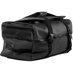 RAINS Large Duffel Backpack Bag, Black, One Size