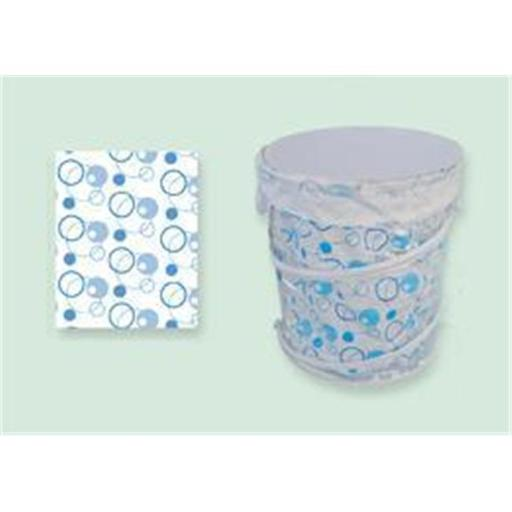 Sassy Sacks for Trash SS1003 - 6 blue Designer trash can liners with additional uses - Pack of 6