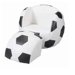 Child's Upholstered Soccer Sports Chair Chair With Ottoman