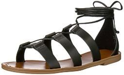 ALDO Women's XAVIERRA Flat Sandal Black Leather 8 B US