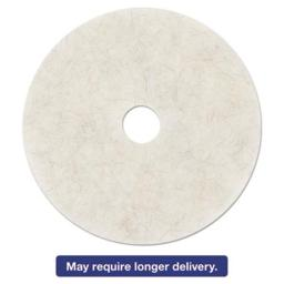 3M Commercial Office Supply 501-20326 27 in. Ultra High-Speed Natural Blend Floor Burnishing Pads, White 501-20326