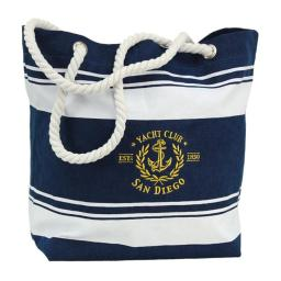 Americaware Ctbsdc01 San Diego Canvas Nautical Embroidered Tote Bag