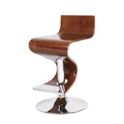 Ac Pacific Acbs12 Adjustable Swivel Barstool Walnut Color Wood And Chrome Stand