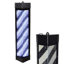 """36"""" Triangle White Led Barber Salon Pole Light Hair Shop Sign w/ Remote Control Eye Catching"""