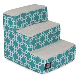 MajesticPet 788995675365 3 Step Links Sherpa Pet Stairs, Teal