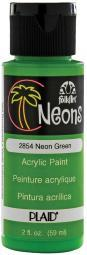 FolkArt Neon Acrylic Paint 2oz Green