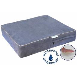 Go Pet Club CC-25 Solid Memory Foam Orthopedic Dog Pet Bed with Waterproof Cover  Charcoal