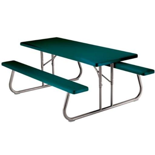 Lifetime 2123 Lifetime Heavy-Duty 6 ft Folding Picnic Table - Hunter Green