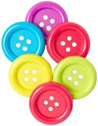 Favorite Findings Big Buttons 6/Pkg Fun