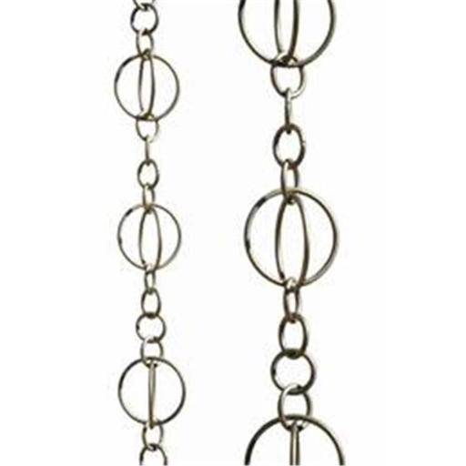 Patina Products R263H Brushed Stainless Life Circles Rain Chain - Half Length
