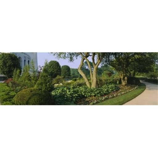 Panoramic Images PPI107672L Plants in a garden Bahai Temple Gardens Wilmette New Trier Township Chicago Cook County Illinois USA Poster Print b