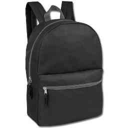 Black Classic 2 Pocket Backpack