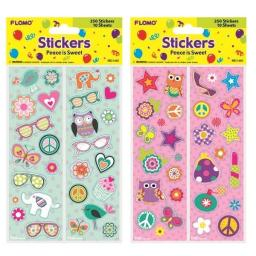 Peace Is Sweet Glitter Stickers (10 Strips)