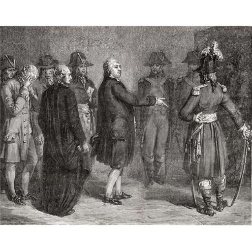 Posterazzi DPI1858182LARGE The King Says We Leave Before Going To His Execution 21 January 1793 Louis Poster Print, Large - 34 x 26