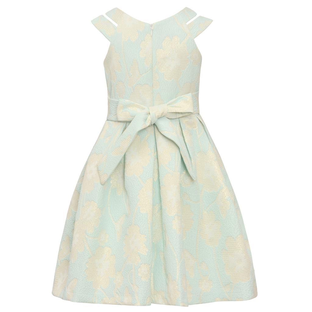 a9317824dde4 Bonnie Jean Bonnie Jean Big Girls Aqua Floral Brocade Knee-Length Easter  Dress 7-16   massgenie.com