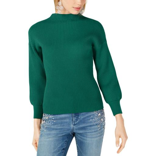 INC Womens Ribbed Pullover Mock Turtleneck Sweater