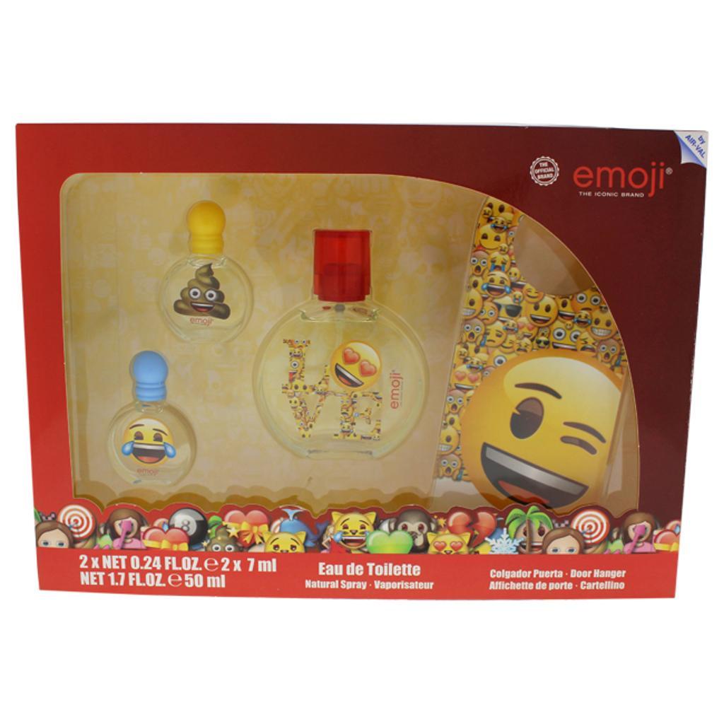 Air-Val International Emoji By Air-Val International For Kids - 4 Pc Gift Set 1.7Oz Edt Spray, 0.24Oz Edt Splash (Mini),